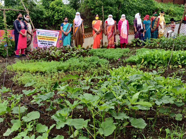 Visit to Nutrition Garden developed by Farm womens